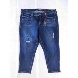 TORRID New Stiletto Ankle Zip Jeans size 22